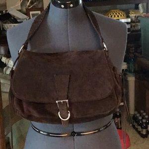 Prada Suede Shoulder Bag